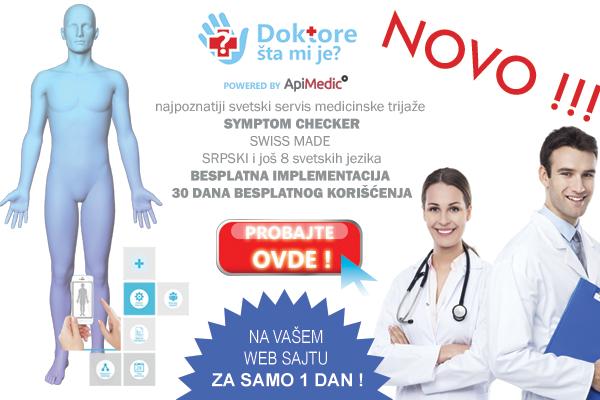 """""""Doktore, šta mi je ?"""" prvi servis online medicinske trijaže u Srbiji !"""